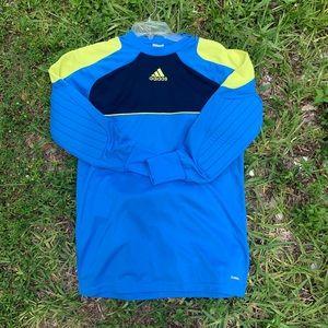 Adidas dry fit goalie long sleeve crew neck